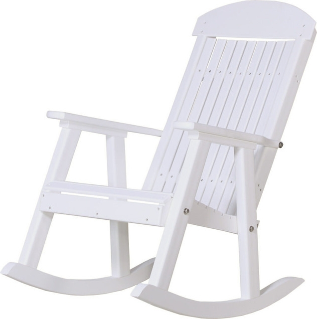 Well Known Outdoor Vinyl Rocking Chairs Inside White Porch Rocker Ash Wood Ladder Back 17 – Teamns (View 20 of 20)
