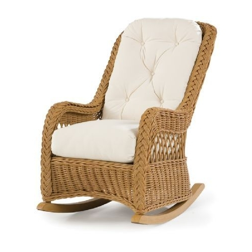 Well Known Outdoor Wicker Rocking Chairs Inside Outdoor Wicker Rocking Chairs – Armen Chairs (View 17 of 20)
