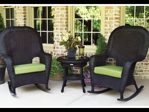Well Known Outdoor Wicker Rocking Chairs~Outdoor Black Wicker Rocking Chairs For Wicker Rocking Chairs For Outdoors (View 16 of 20)