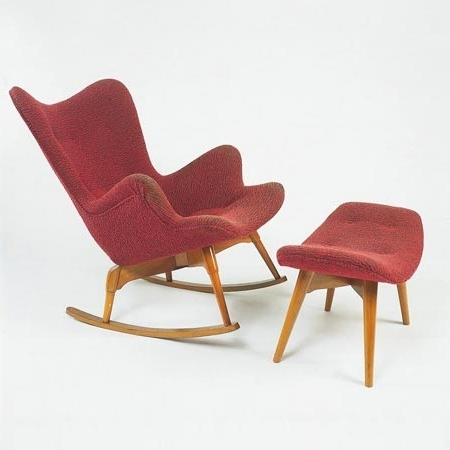 Well Known R160 Rocking Chair/ottoman For Sale At Sotheby´s With Regard To Rocking Chairs With Ottoman (View 19 of 20)