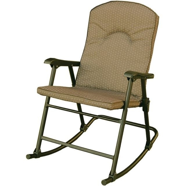 Well Known Rocking Chair Padded Rocker Seat Folding Modern Style Home Patio With Regard To Padded Patio Rocking Chairs (View 10 of 20)