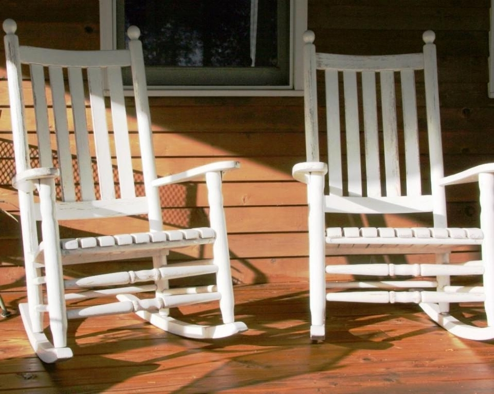 Well Known Rocking Chairs For Porch Throughout Great Porch Rocking Chairs Design Ideasjayne Atkinson Homes (View 18 of 20)