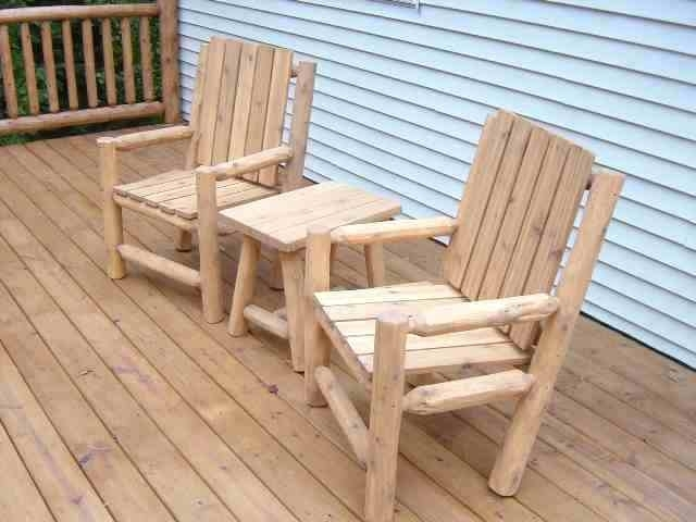 Well Known Rustic Patio Furniture Sets Outdoor Log Wood Fresh Furnitu – Thestark (View 19 of 20)