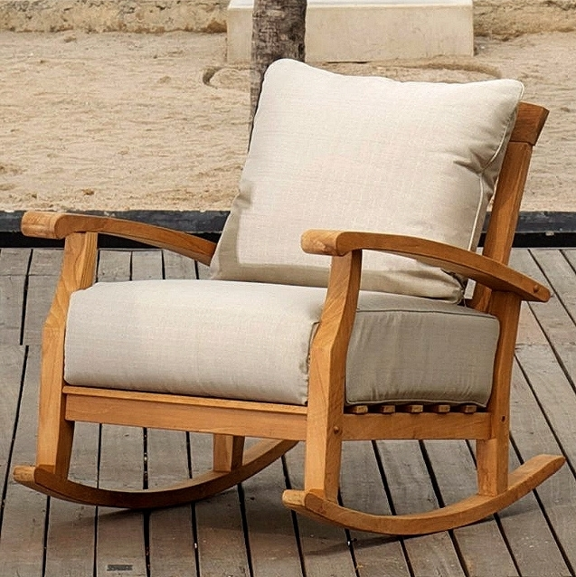 Well Known Teak Patio Rocking Chairs For Chair (View 7 of 20)