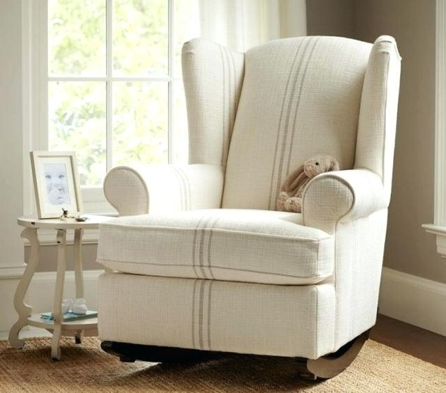 Well Known Upholstered Rocking Chairs Throughout Upholstered Rocking Chairs Baby Nursery Rocking Chair Nursery (View 5 of 20)