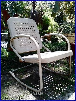 Well Known Vintage Metal Rocking Patio Chairs With 1950's Vintage Rocking Chair Matches A Porch Glider, Metal (View 19 of 20)
