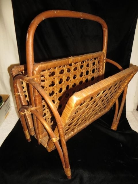 Well Known Vintage Woven Wicker Magazine Rack – Very Nice Looking!! (View 17 of 20)