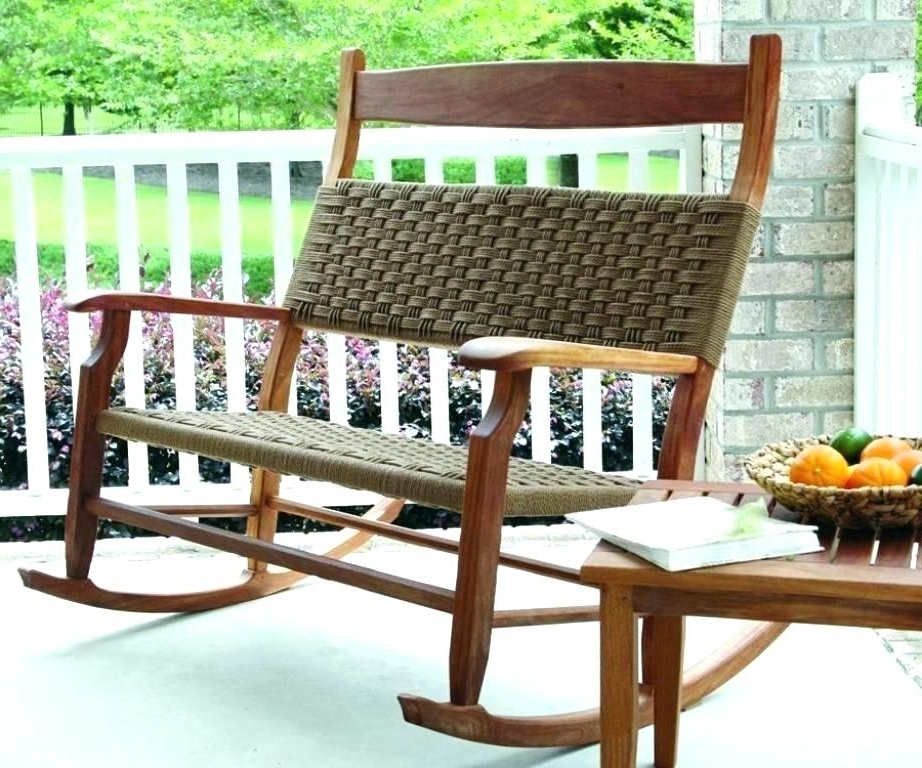 Well Known Wicker Patio Rocking Chair – Hyperraum Within Outdoor Patio Rocking Chairs (View 7 of 20)