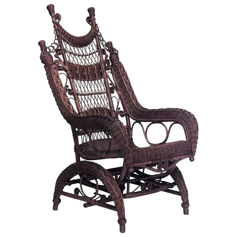 Well Known Wicker Rocking Chair Wicker Rocking Chair At Antique Wicker Rocking Within Antique Wicker Rocking Chairs With Springs (View 16 of 20)