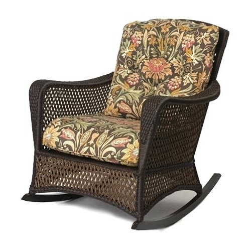 Well Known Wicker Rocking Chairs With Cushions Within Wicker Rocking Chair Cushions Flowy Wicker Rocking Chair Cushion (View 16 of 20)