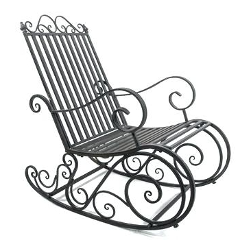 Well Known Wrought Iron Patio Rocking Chairs In Wrought Iron Swivel Rocker Chairs (View 13 of 20)