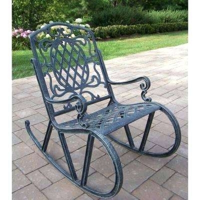 Well Liked Iron Rocking Patio Chairs With Regard To Wrought Iron Rocker Chair Aluminum Outdoor Rocking Chair Wrought (View 17 of 20)