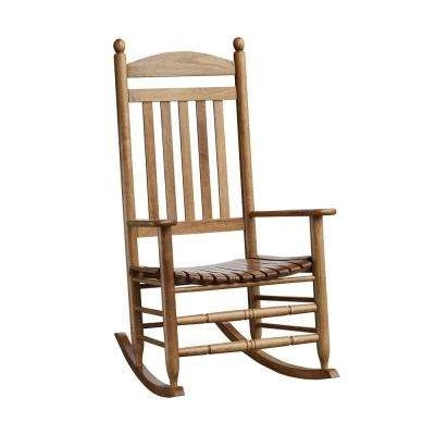 Well Liked Patio Wooden Rocking Chairs With Regard To Rocking Chairs – Patio Chairs – The Home Depot (View 18 of 20)