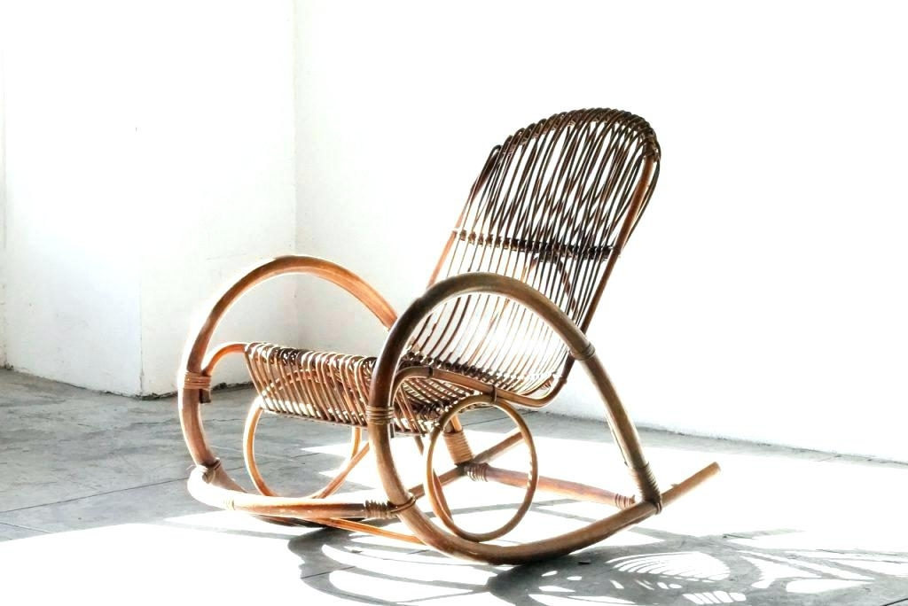 Well Liked Rattan Rocking Chair Singapore – Carolanderson Within Antique Wicker Rocking Chairs With Springs (View 18 of 20)