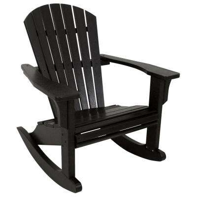 Well Liked Rocking – Black – Rocking Chairs – Patio Chairs – The Home Depot Pertaining To Black Patio Rocking Chairs (View 20 of 20)