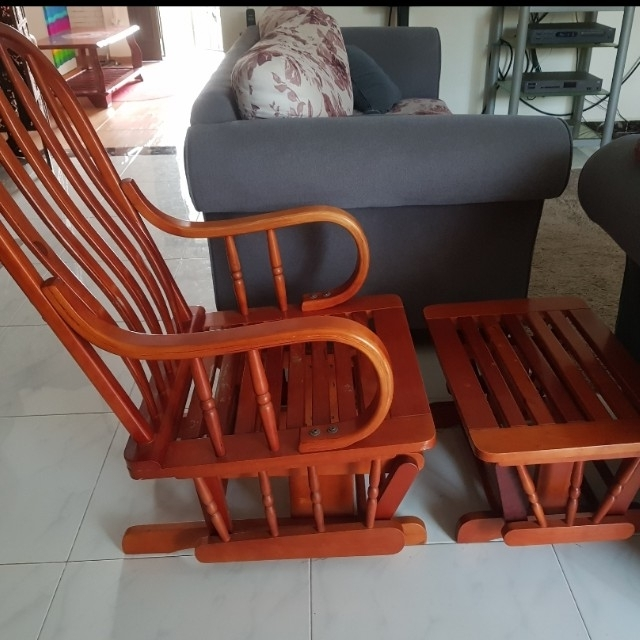 Well Liked Rocking Chair With Foot Rest, Furniture, Tables & Chairs On Carousell For Rocking Chairs With Footrest (View 20 of 20)