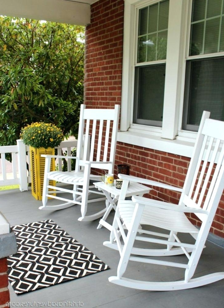 Well Liked Rocking Chairs For Porch With Regard To White Rocking Chairs Porch Rocking Chairs White Front Porch Rocking (View 20 of 20)