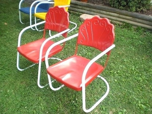 Well Liked Vintage Metal Rocking Patio Chairs Pertaining To Metal Lawn Chair Vintage Metal Lawn Chair Vintage Metal Lawn Chair (View 20 of 20)