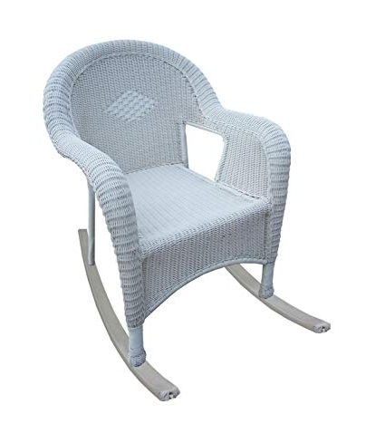Well Liked White Resin Patio Rocking Chairs Intended For Amazon : Pack Of 2 Bright White Resin Wicker Patio Rocking (View 11 of 20)