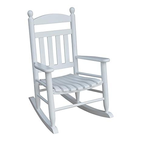 White Patio Rocking Chairs Regarding Famous Amazon: Youth Slat White Patio Rocking Chair, White: Electronics (View 15 of 20)