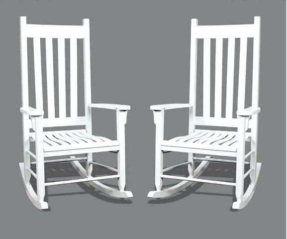 White Patio Rocking Chairs Regarding Most Popular White Plastic Outdoor Rocking Chairs Seashell Patio Rocker Amazing (View 16 of 20)