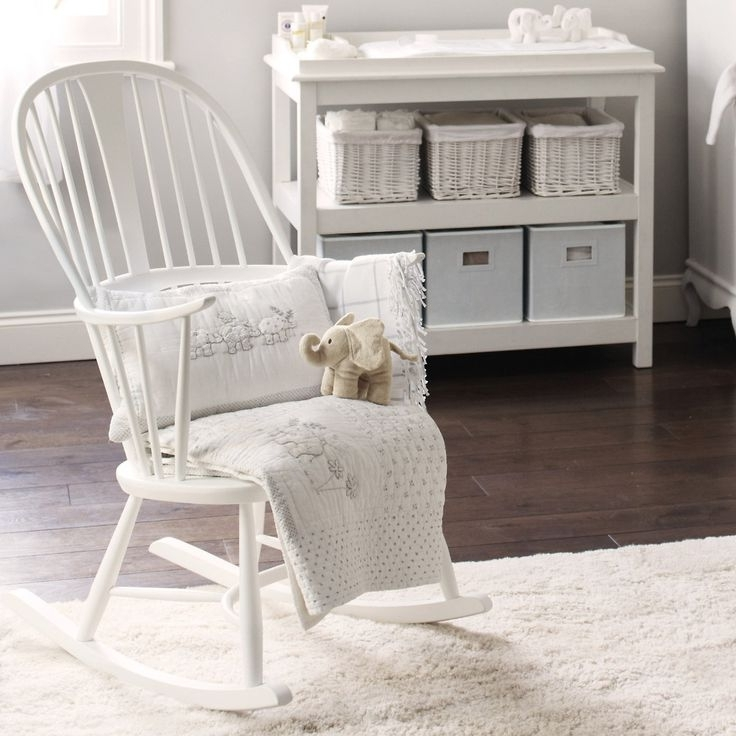 White Rocking Chair Baby Nursery Rocking Chairs For New Moms Throughout Current Rocking Chairs For Baby Room (View 7 of 20)