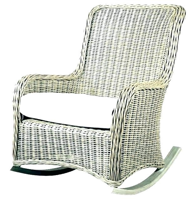 White Wicker Rockers Outdoor Outdoor Wicker Chair On Resin Wicker Pertaining To Preferred Small Patio Rocking Chairs (View 20 of 20)