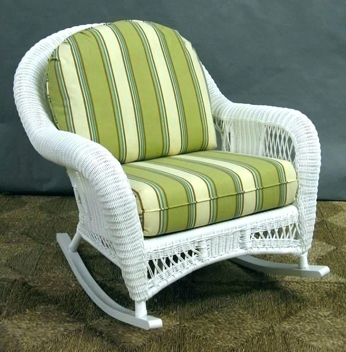 White Wicker Rocking Chairs Pertaining To Most Current Resin Wicker Rocking Chair Resin Wicker Rocking Chairs – Dobaebacsa (View 14 of 20)