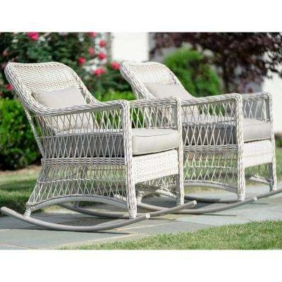 Wicker Patio Furniture – White – Rocking Chairs – Patio Chairs – The Inside Latest White Wicker Rocking Chairs (View 16 of 20)