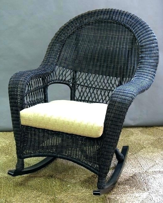 Wicker Rocker Chair Rocking Cushion Set – Troikatech In Popular Indoor Wicker Rocking Chairs (View 20 of 20)