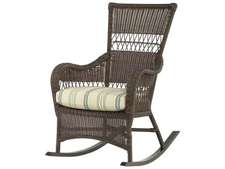 Wicker Rocker Classic Coastal Wicker Rocking Chair Wicker Swivel Inside 2018 Wicker Rocking Chairs With Cushions (View 17 of 20)