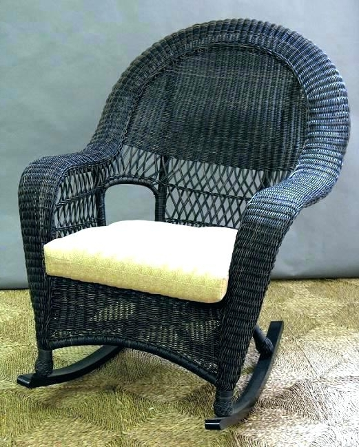 Wicker Rocking Chair Home Depot – Kamidano Inside Most Popular Wicker Rocking Chairs Sets (View 14 of 20)