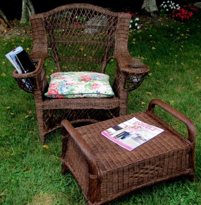 Wicker Rocking Chair With Magazine Holder Within Favorite Curbside Rescue – House Of Hawthornes (View 20 of 20)