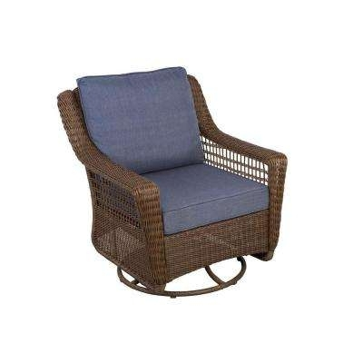 Wicker Rocking Chairs And Ottoman Inside Most Popular Wicker Patio Furniture – Patio Furniture – Outdoors – The Home Depot (View 16 of 20)
