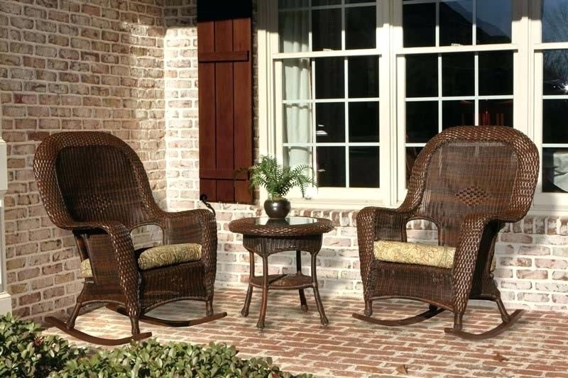 Wicker Rocking Chairs Sets For Most Up To Date Wicker Rocking Chair Set Java Wicker Wicker Rocking Chair Cushion (View 15 of 20)