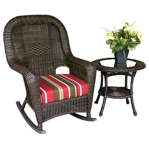 Wicker Rocking Chairs Sets Intended For 2017 Outdoor Wicker Rocker Wicker Grey Outdoor Wicker Rocker – Ugglan (View 16 of 20)