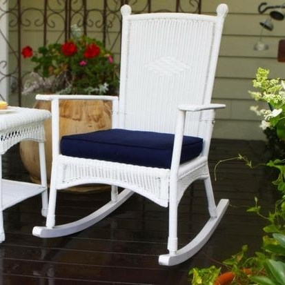 Wicker Rocking Chairs Sets With Regard To Popular Tortuga Outdoor Portside Classic Wicker Rocking Chair – Rocking (View 19 of 20)