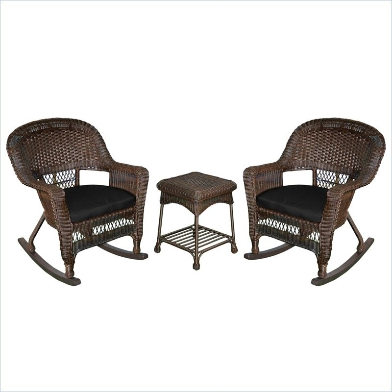 Wicker Rocking Chairs Sets With Trendy Jeco Wicker Rocker Chair Set (View 20 of 20)
