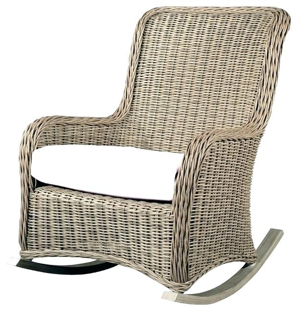 Wicker Rocking Chairs With Cushions Pertaining To Fashionable Rattan Swivel Rocker Cushion Rattan Swivel Rocker With Micro Suede (View 20 of 20)