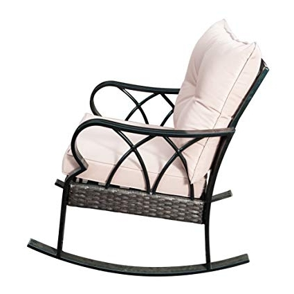 Widely Used Amazon : Sunlife Outdoor Indoor Aluminum Rocking Chair, Patio In Patio Rocking Chairs With Covers (View 19 of 20)