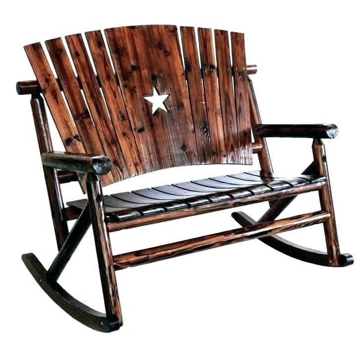 Widely Used Char Log Rocker Star Rocking Chair Lone Star Garden Rocking Bench With Char Log Patio Rocking Chairs With Star (View 20 of 20)