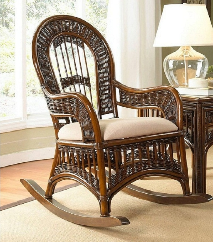 Widely Used Classic Wicker Rocking Chair Cushions, Nursery Rocking Chair, White Regarding Rocking Chairs With Cushions (View 17 of 20)