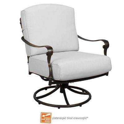 Widely Used Hampton Bay – Rocking – Patio Chairs – Patio Furniture – The Home Depot Regarding Manhattan Patio Grey Rocking Chairs (View 18 of 20)