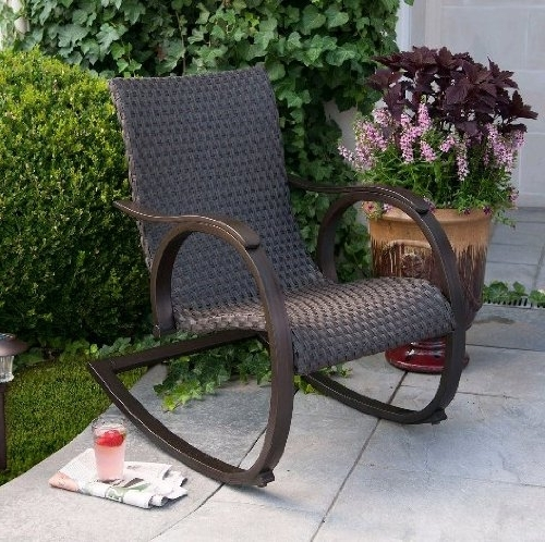 Widely Used Outdoor Wicker Rocking Chairs Throughout Interior (View 17 of 20)
