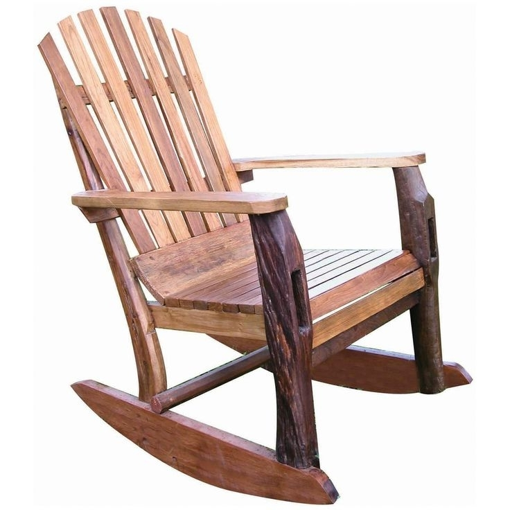Widely Used Wooden Patio Rocking Chairs Regarding Wooden Outdoor Rocking Chairs – Centralazdining (View 18 of 20)