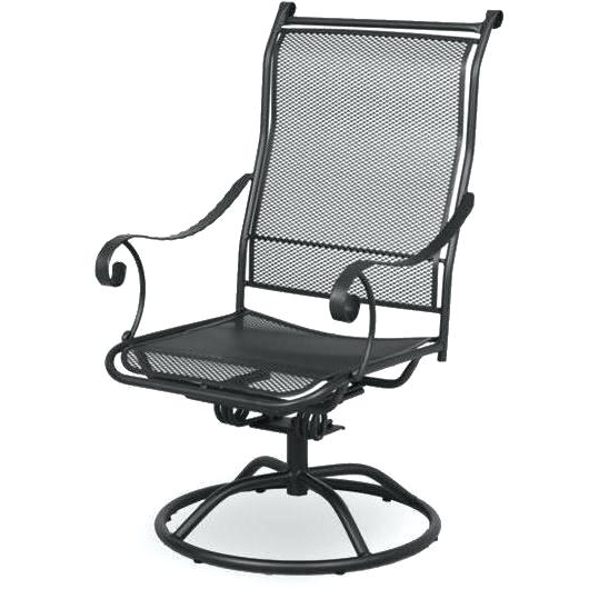 Widely Used Wrought Iron Rocker Chair Wrought Iron Swivel Rocker Patio Dining Intended For Wrought Iron Patio Rocking Chairs (View 13 of 20)