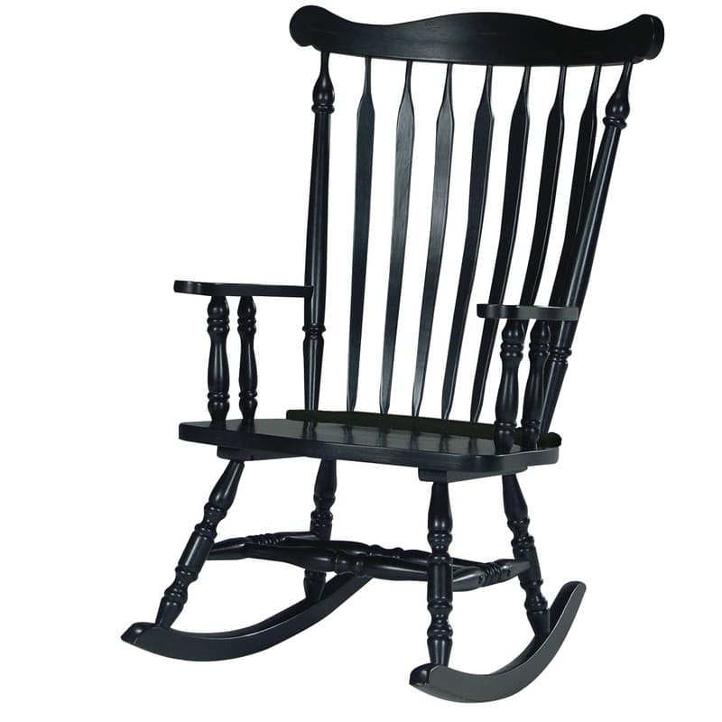 Williamsburg Colonial Rocking Chair With Regard To Well Known Black Rocking Chairs (View 2 of 20)