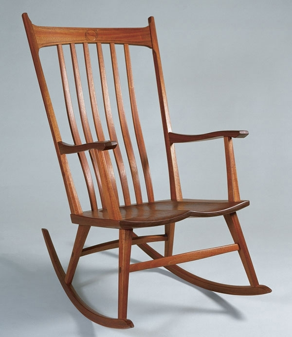 Windsor Style Rocking Chair – Finewoodworking For Most Up To Date Xl Rocking Chairs (View 16 of 20)