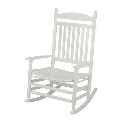 Wood – White – Rocking Chairs – Patio Chairs – The Home Depot Within Well Known White Patio Rocking Chairs (View 20 of 20)