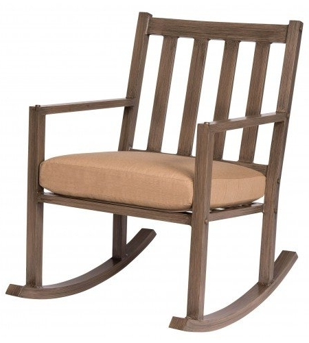 Woodard Woodlands Small Rocking Chair With Cushions (View 19 of 20)